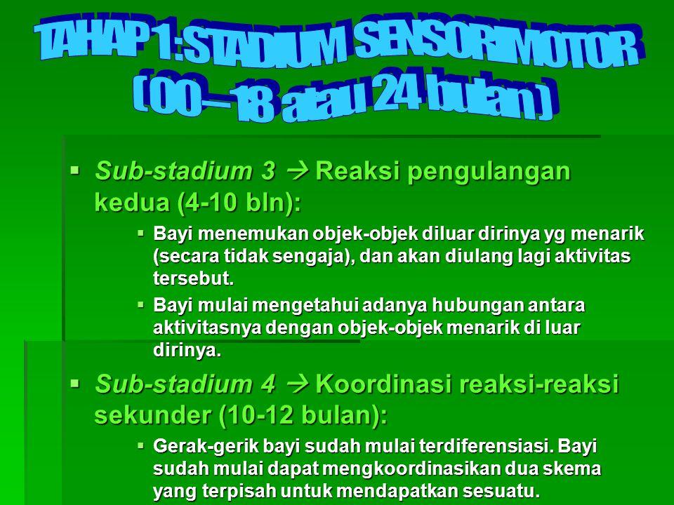 TAHAP 1 : STADIUM SENSORIMOTOR
