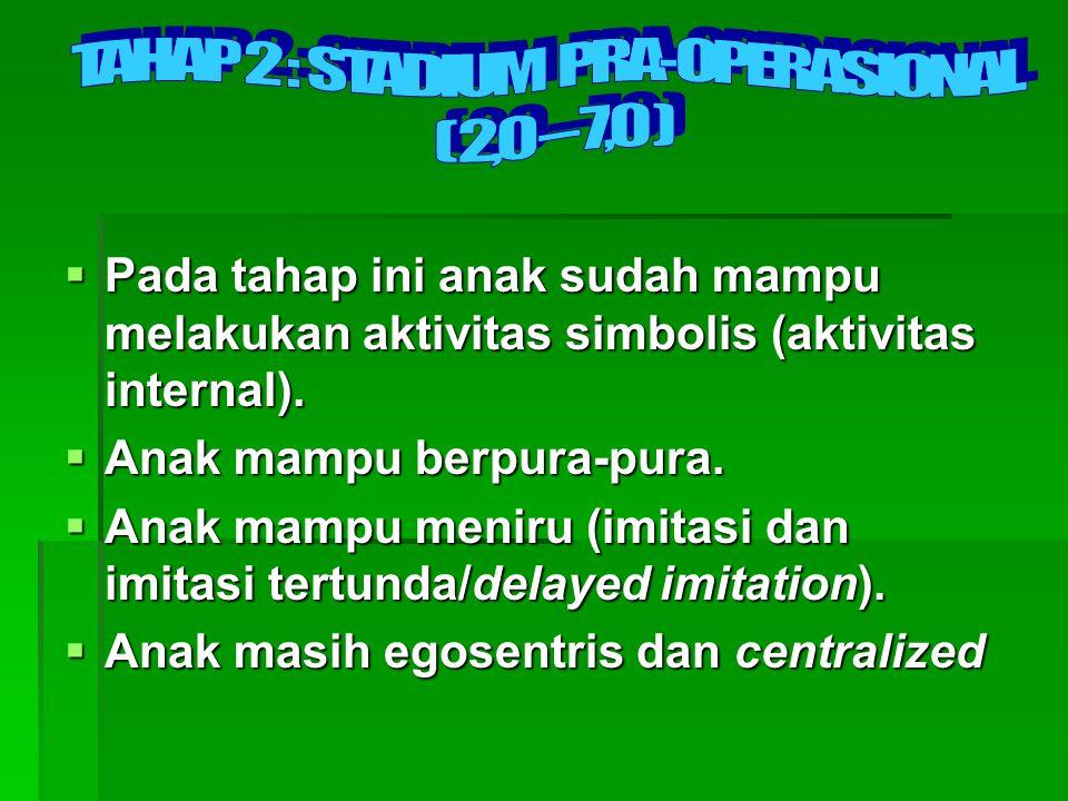 TAHAP 2 : STADIUM PRA-OPERASIONAL