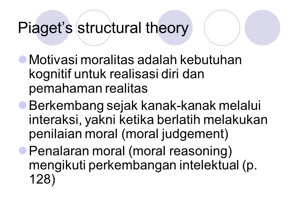 Piaget's structural theory