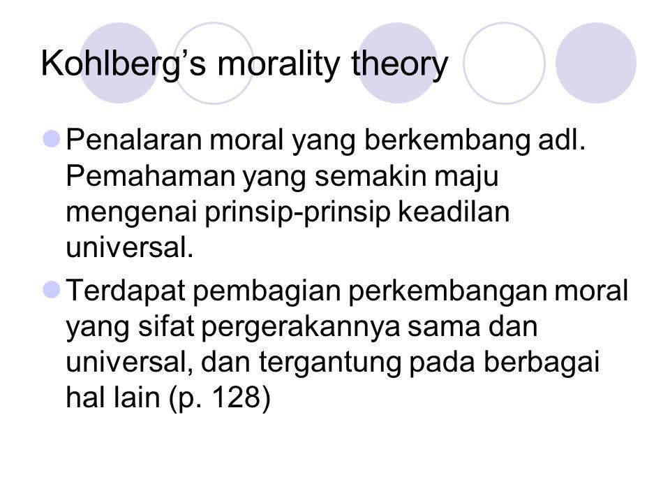 Kohlberg's morality theory