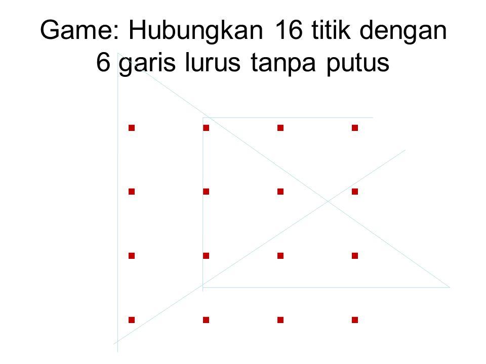 Game: Hubungkan 16 titik dengan 6 garis lurus tanpa putus