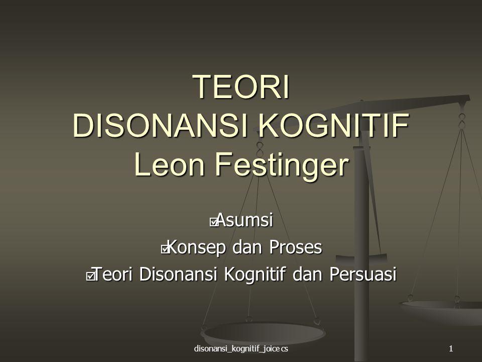 TEORI DISONANSI KOGNITIF Leon Festinger