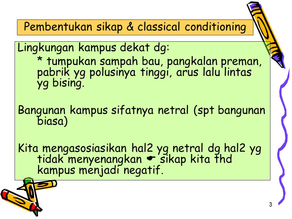 Pembentukan sikap & classical conditioning