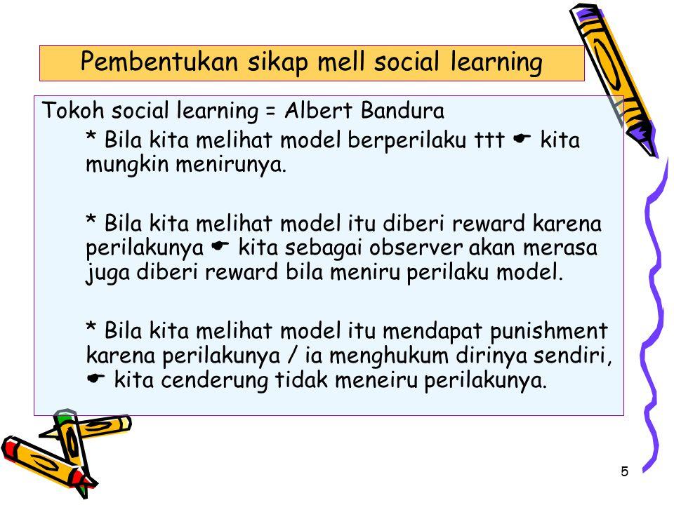 Pembentukan sikap mell social learning