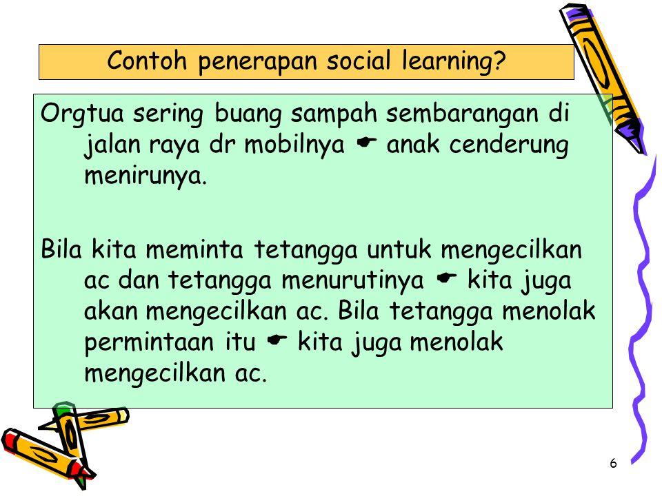 Contoh penerapan social learning