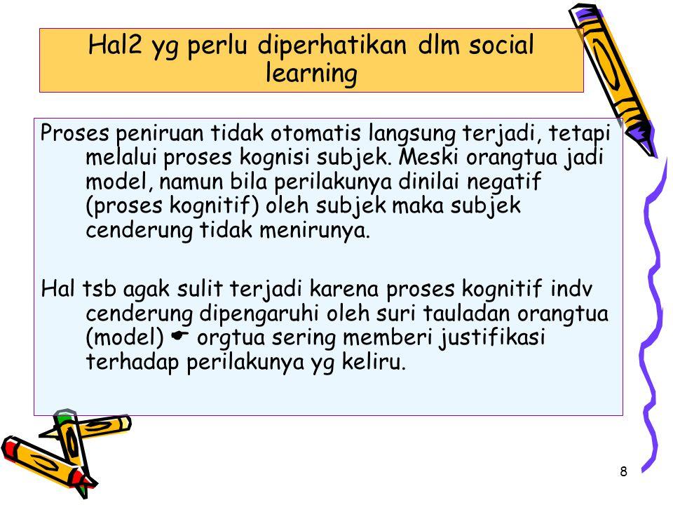 Hal2 yg perlu diperhatikan dlm social learning