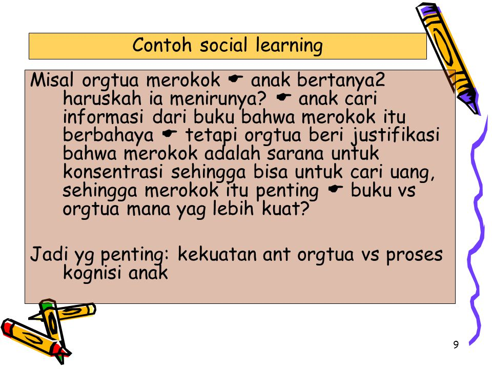 Contoh social learning