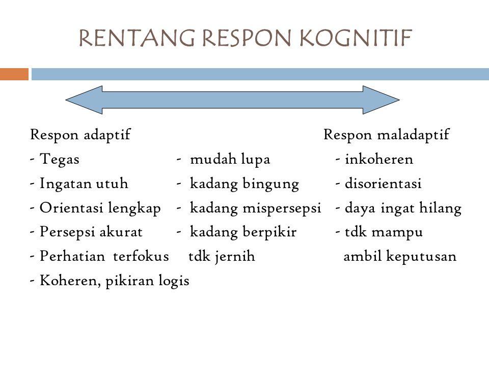 RENTANG RESPON KOGNITIF