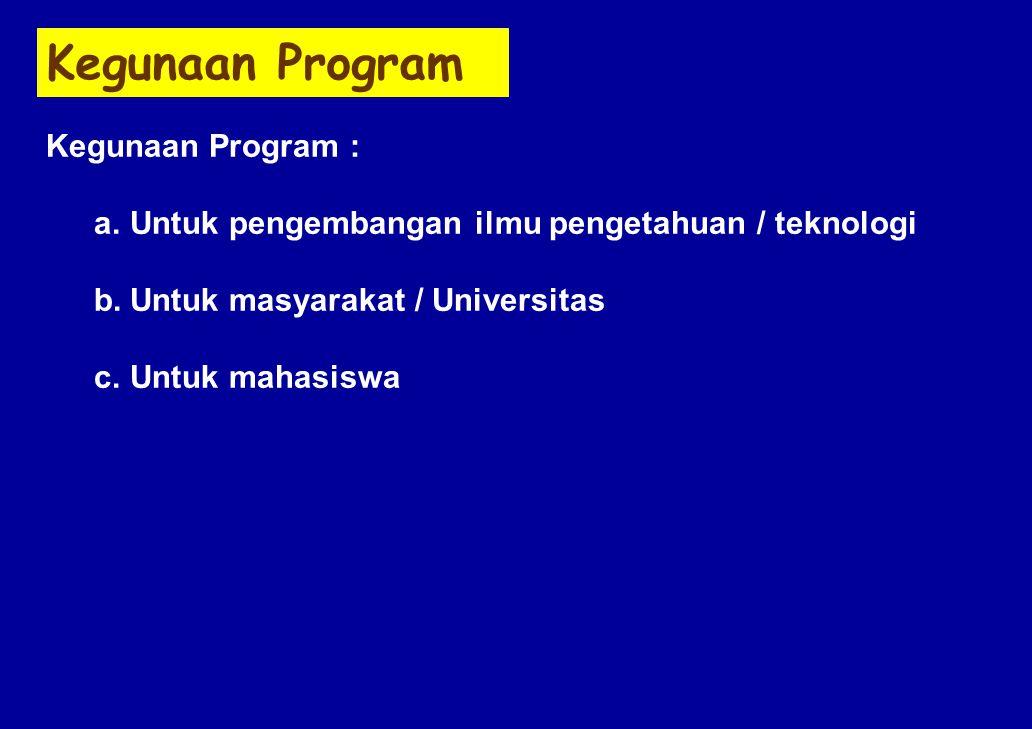 Kegunaan Program Kegunaan Program :