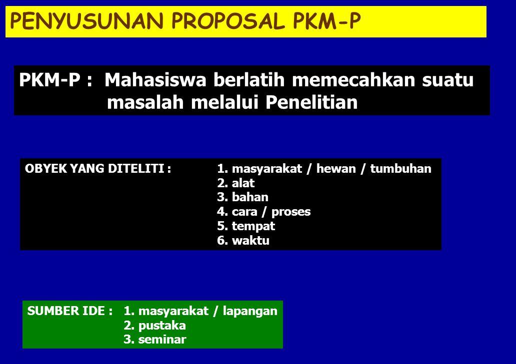PENYUSUNAN PROPOSAL PKM-P