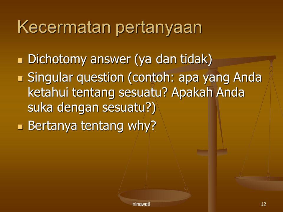 Kecermatan pertanyaan