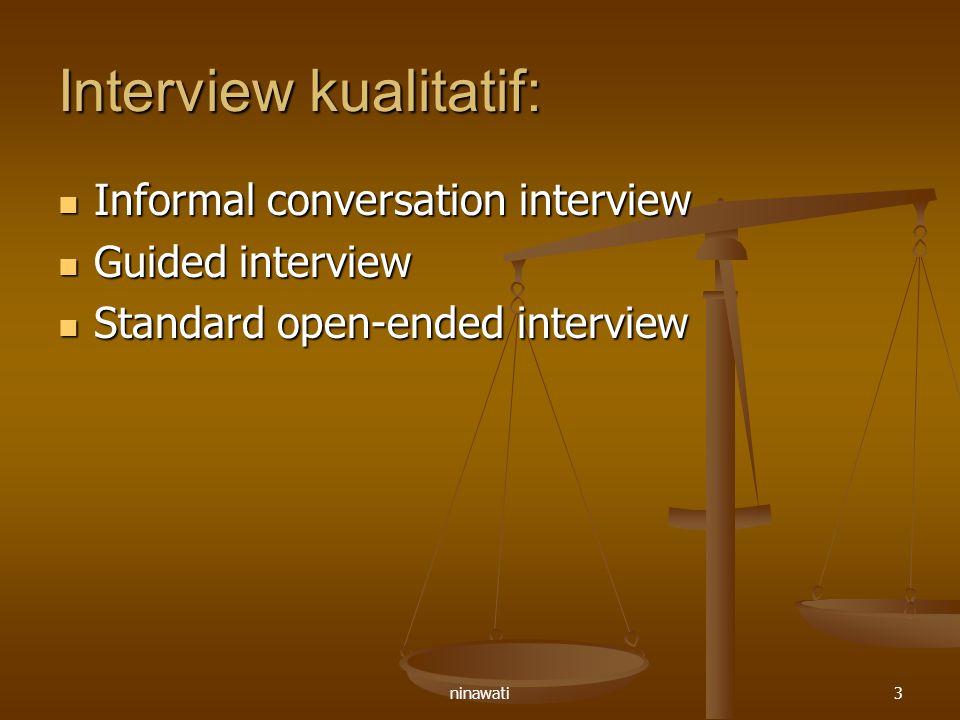Interview kualitatif: