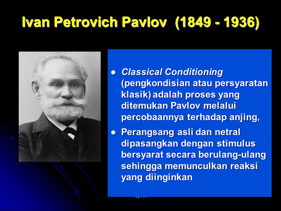 Ivan Petrovich Pavlov (1849 - 1936)