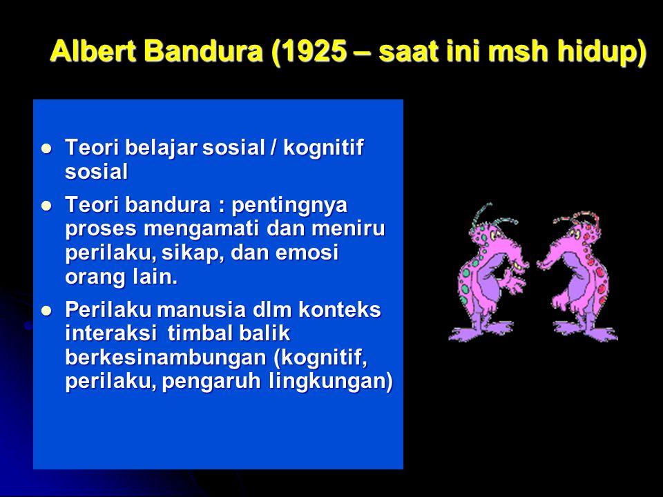 Albert Bandura (1925 – saat ini msh hidup)