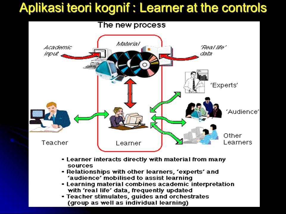 Aplikasi teori kognif : Learner at the controls
