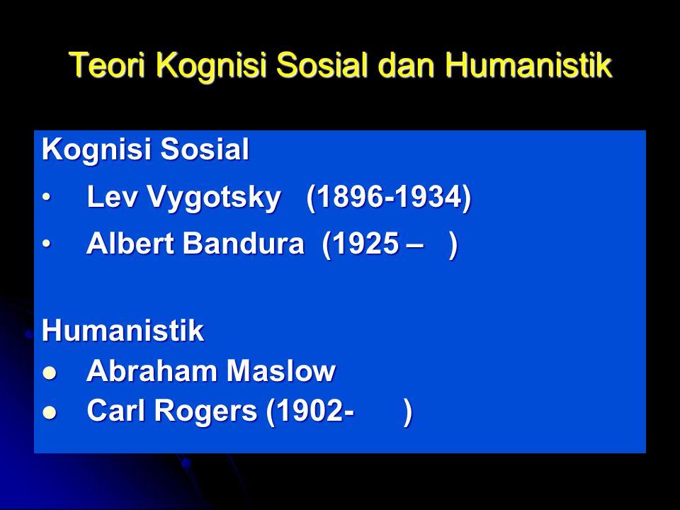 Teori Kognisi Sosial dan Humanistik