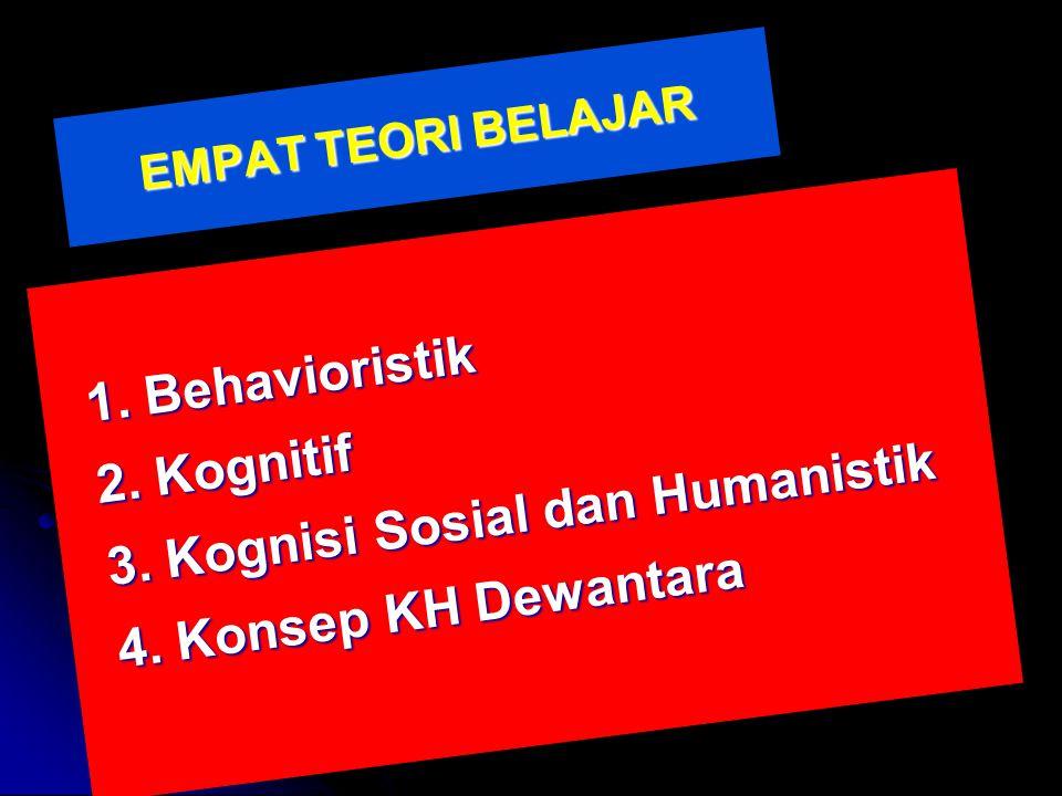 3. Kognisi Sosial dan Humanistik 4. Konsep KH Dewantara