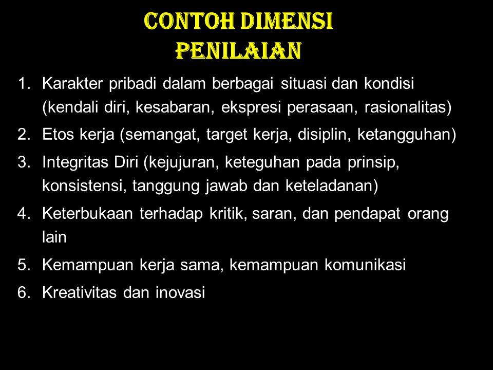 CONTOH DIMENSI PENILAIAN