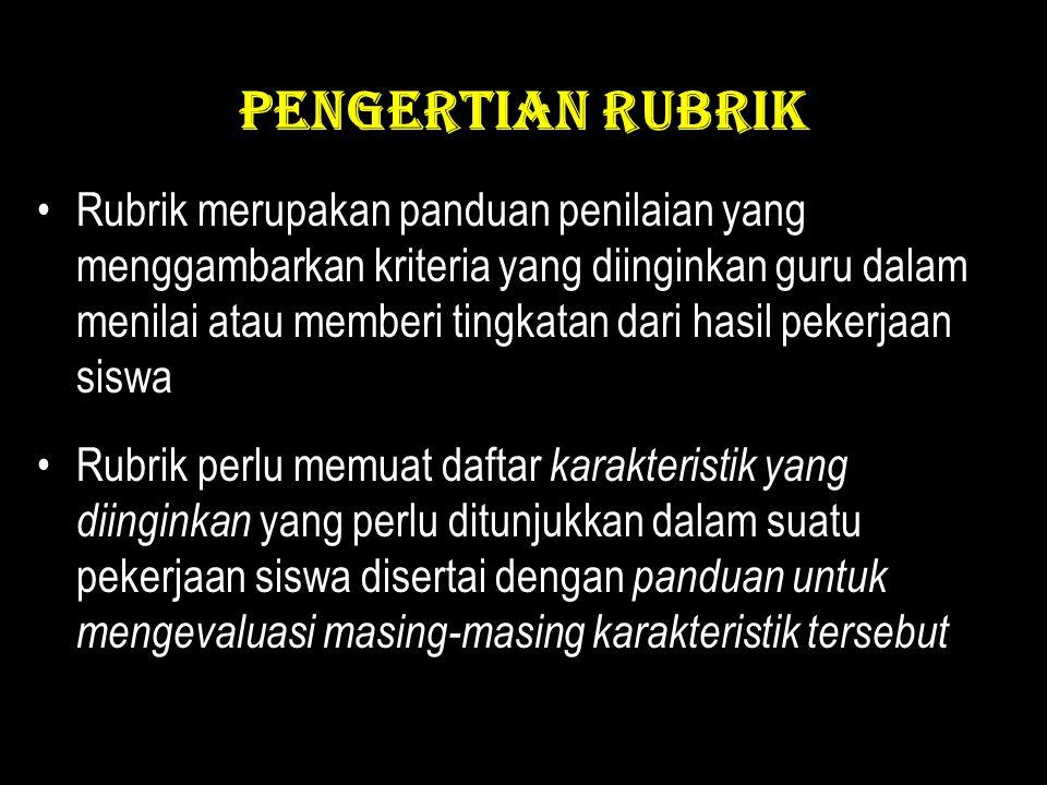 PENGERTIAN RUBRIK