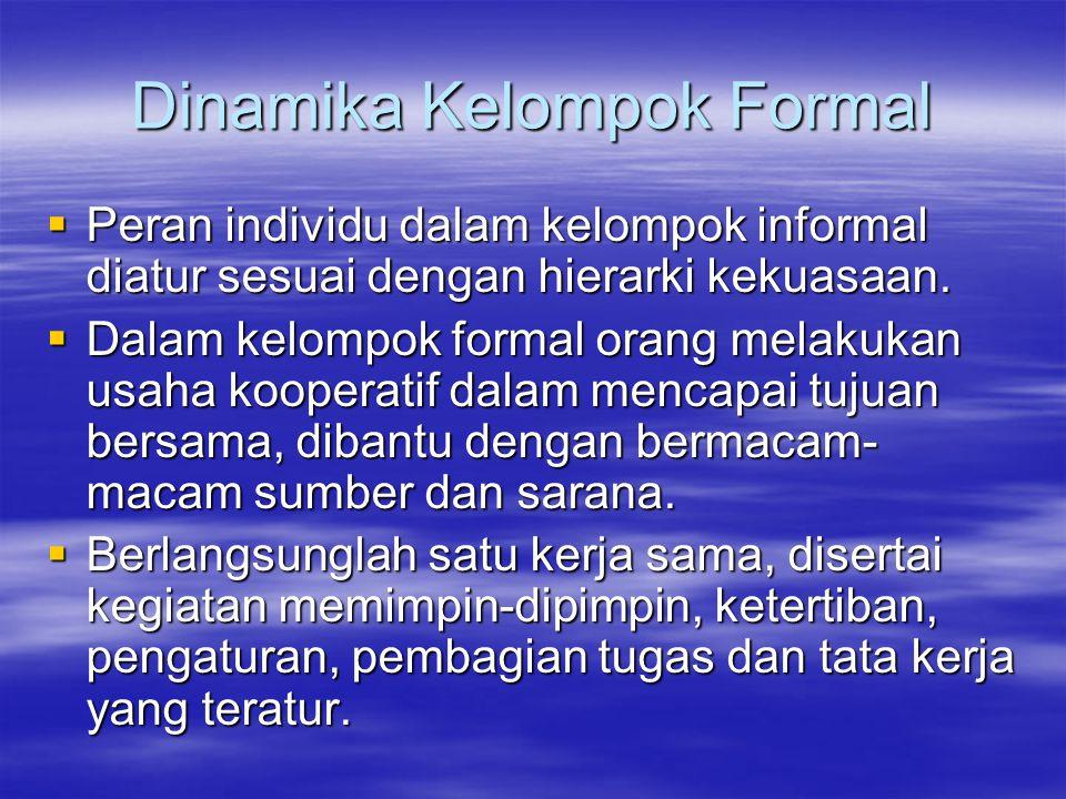 Dinamika Kelompok Formal
