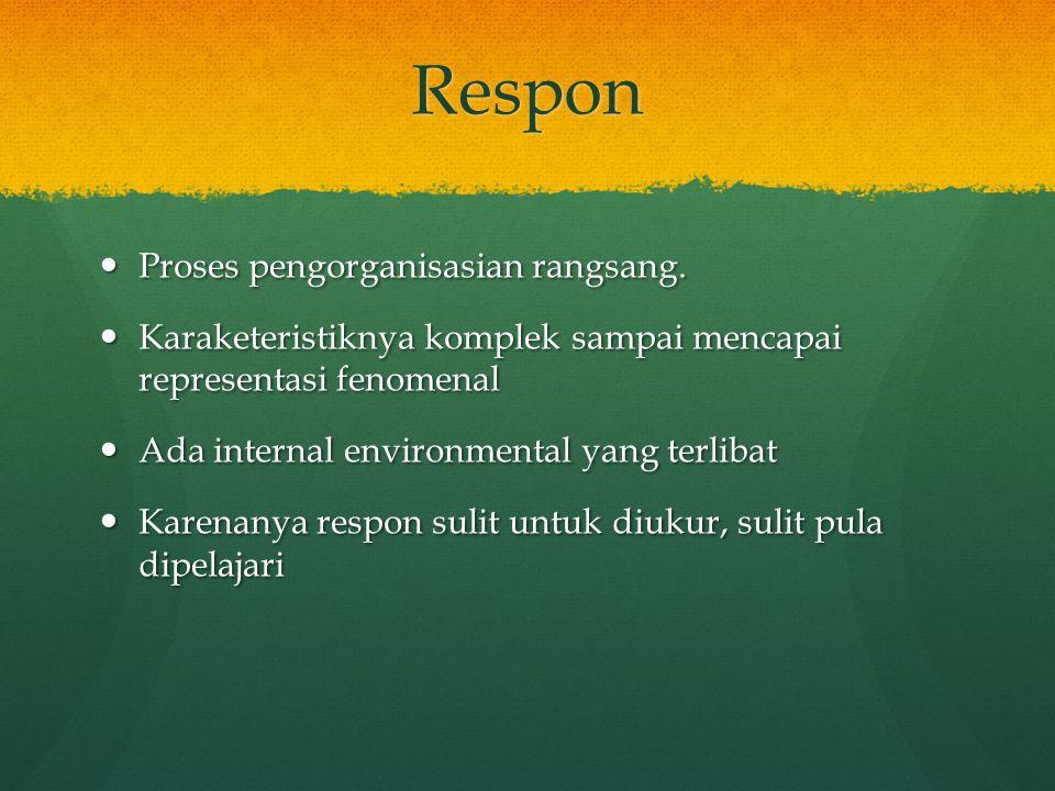 Respon Proses pengorganisasian rangsang.