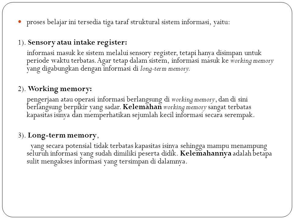 proses belajar ini tersedia tiga taraf struktural sistem informasi, yaitu: