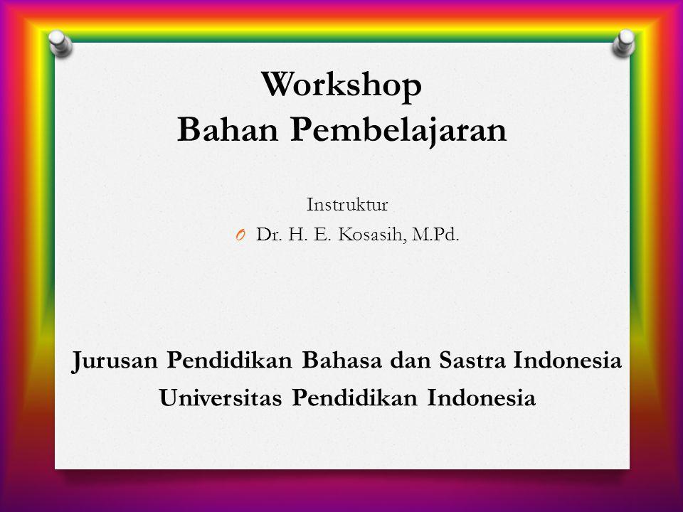 Workshop Bahan Pembelajaran