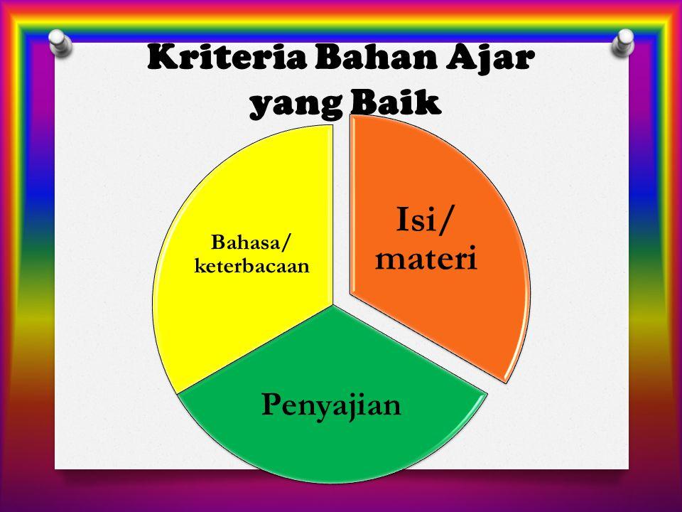 Kriteria Bahan Ajar yang Baik