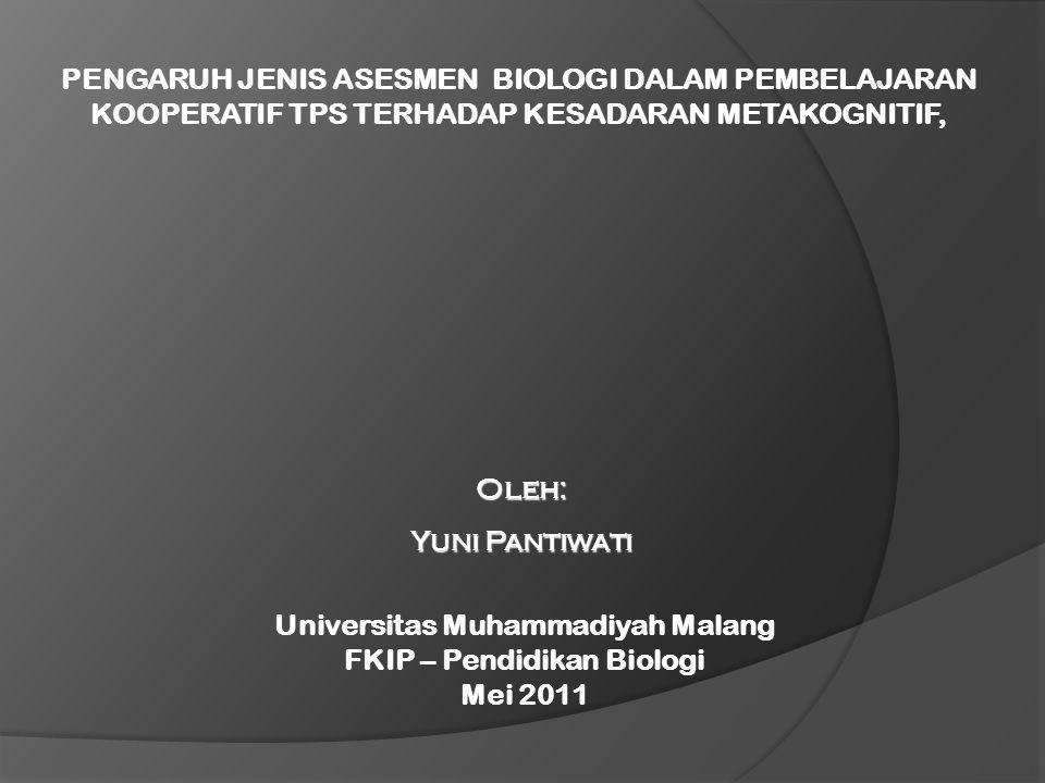 Universitas Muhammadiyah Malang FKIP – Pendidikan Biologi