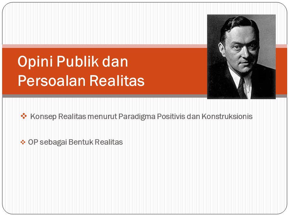 Opini Publik dan Persoalan Realitas