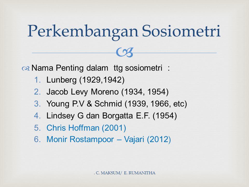 Perkembangan Sosiometri