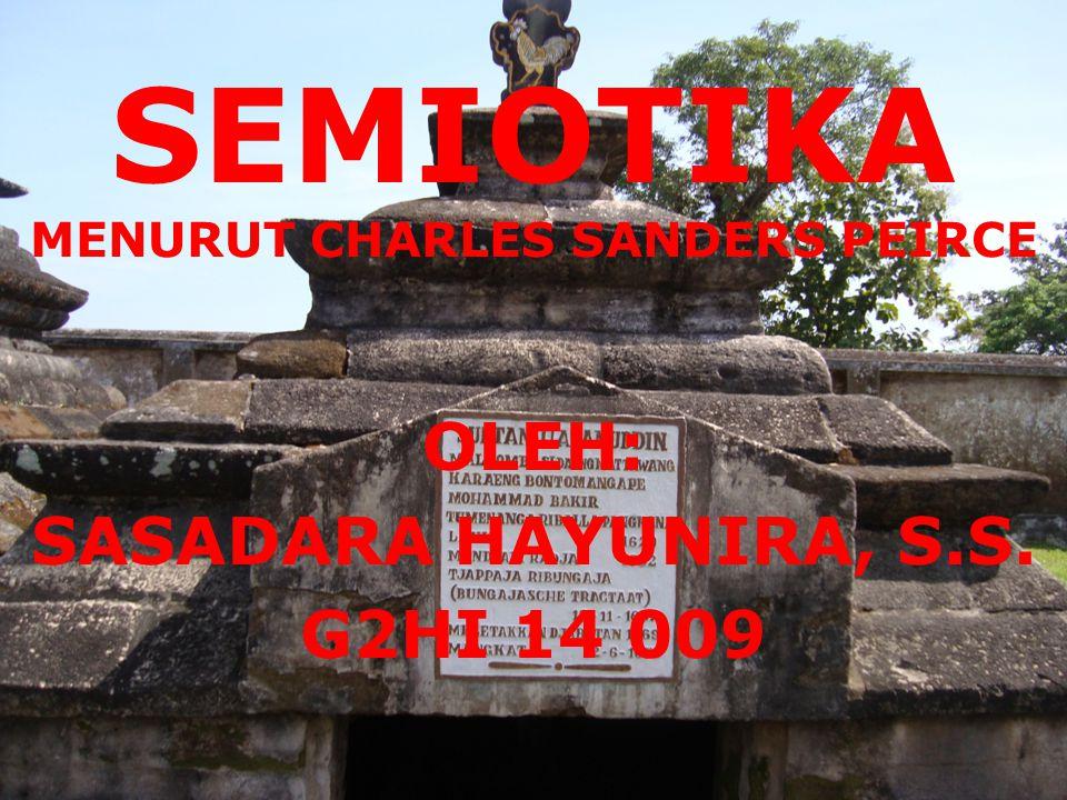 SEMIOTIKA MENURUT CHARLES SANDERS PEIRCE