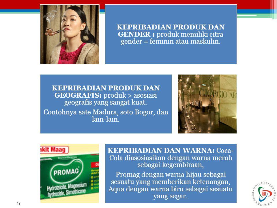 Contohnya sate Madura, soto Bogor, dan lain-lain.