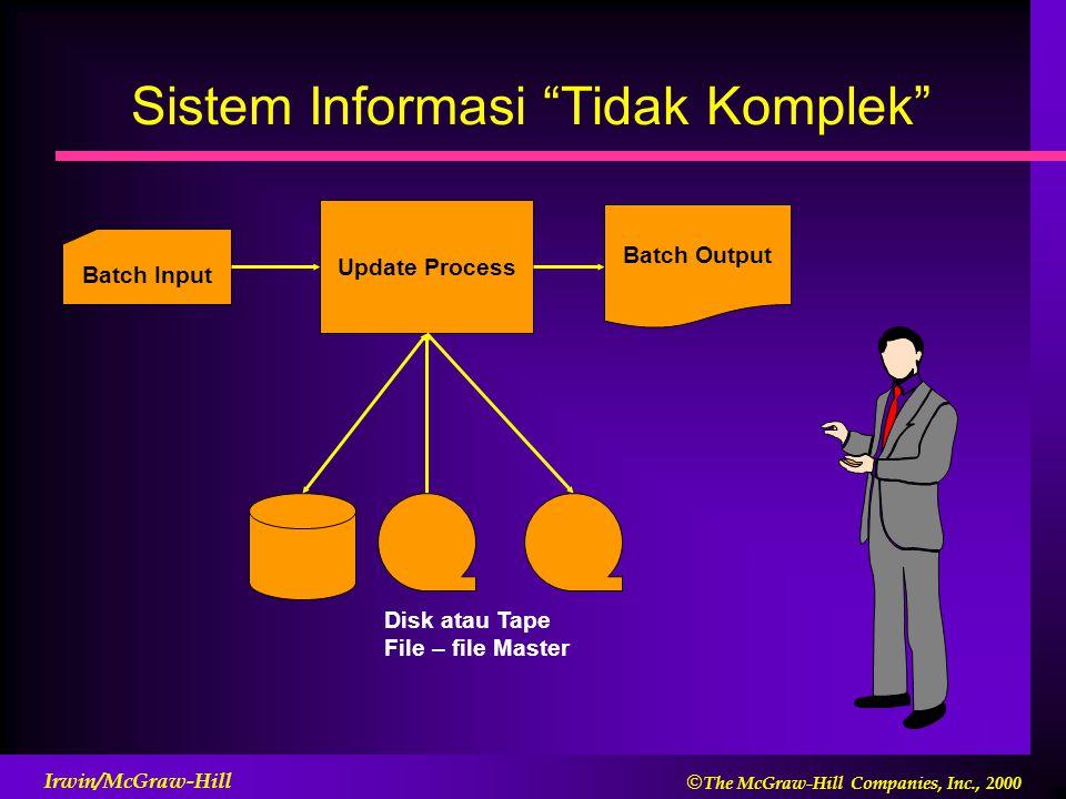 Sistem Informasi Tidak Komplek