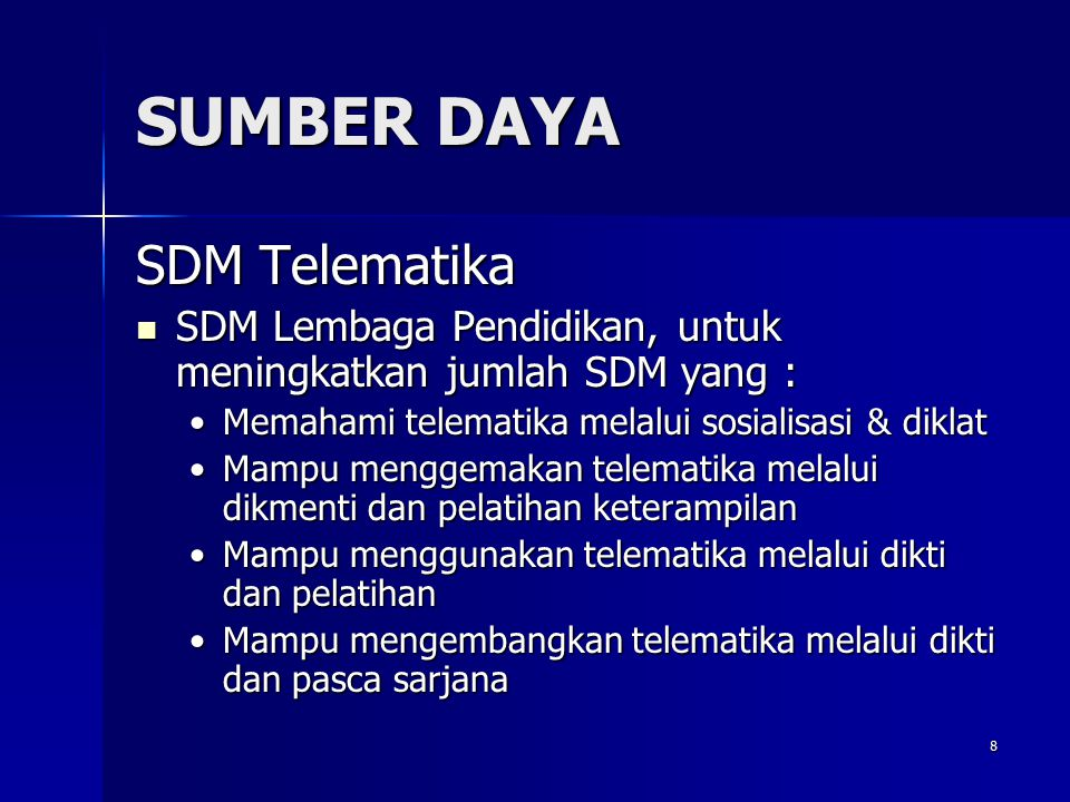 SUMBER DAYA SDM Telematika