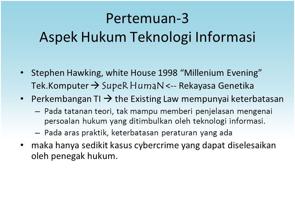Pertemuan-3 Aspek Hukum Teknologi Informasi