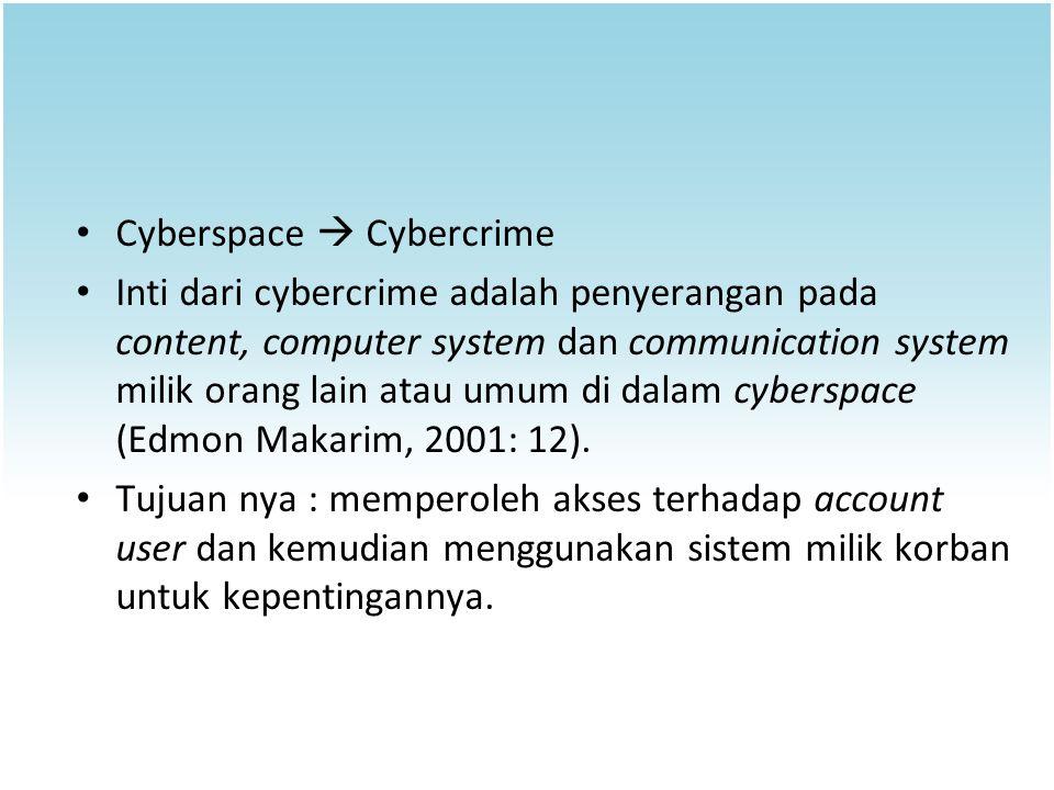 Cyberspace  Cybercrime