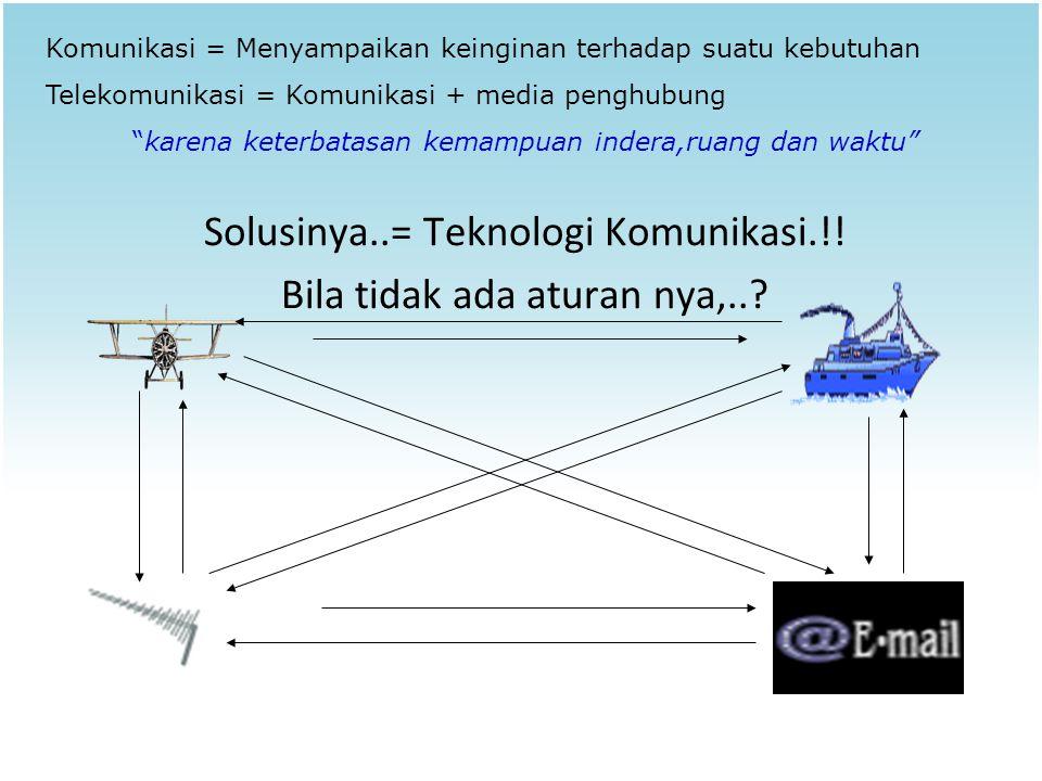 Solusinya..= Teknologi Komunikasi.!! Bila tidak ada aturan nya,..