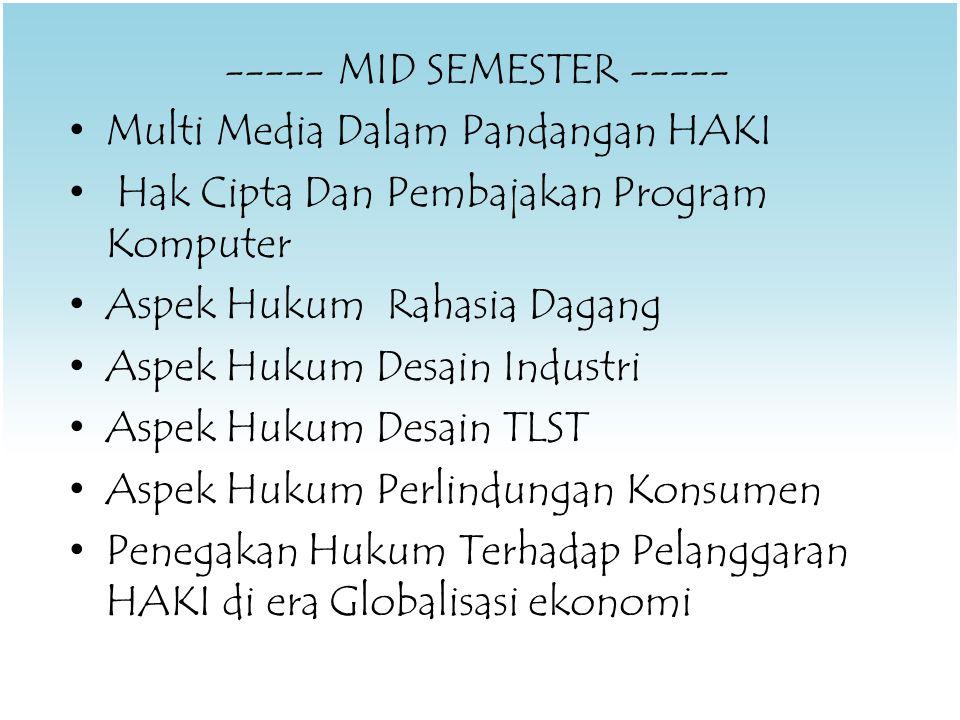 ----- MID SEMESTER -----
