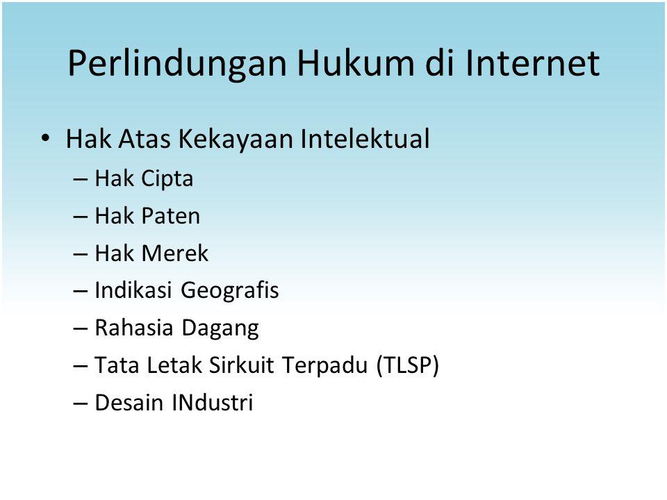 Perlindungan Hukum di Internet