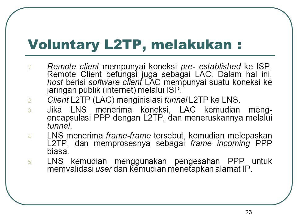 Voluntary L2TP, melakukan :