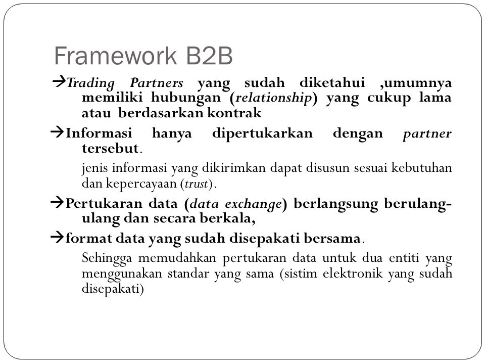Framework B2B