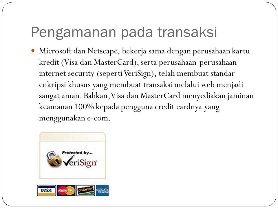 Pengamanan pada transaksi
