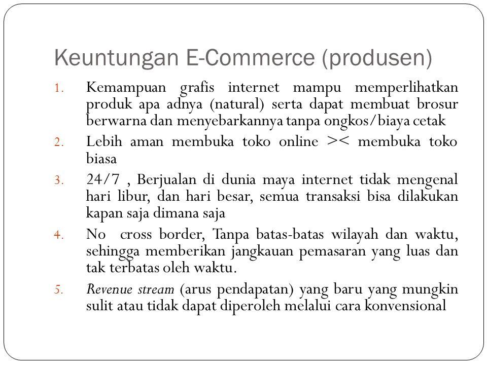 Keuntungan E-Commerce (produsen)