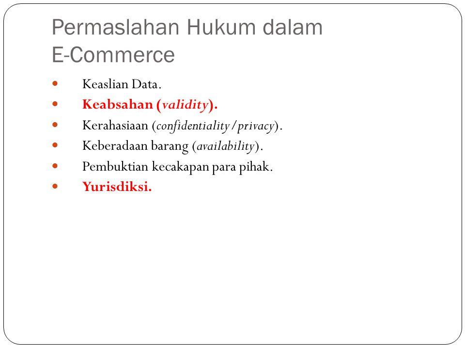 Permaslahan Hukum dalam E-Commerce