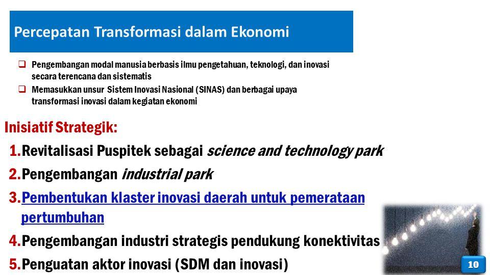 Percepatan Transformasi dalam Ekonomi