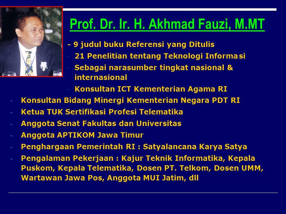 Prof. Dr. Ir. H. Akhmad Fauzi, M.MT