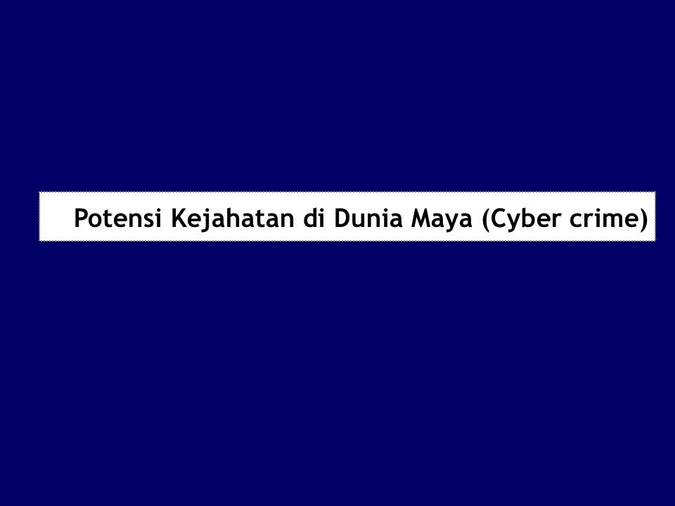 Potensi Kejahatan di Dunia Maya (Cyber crime)