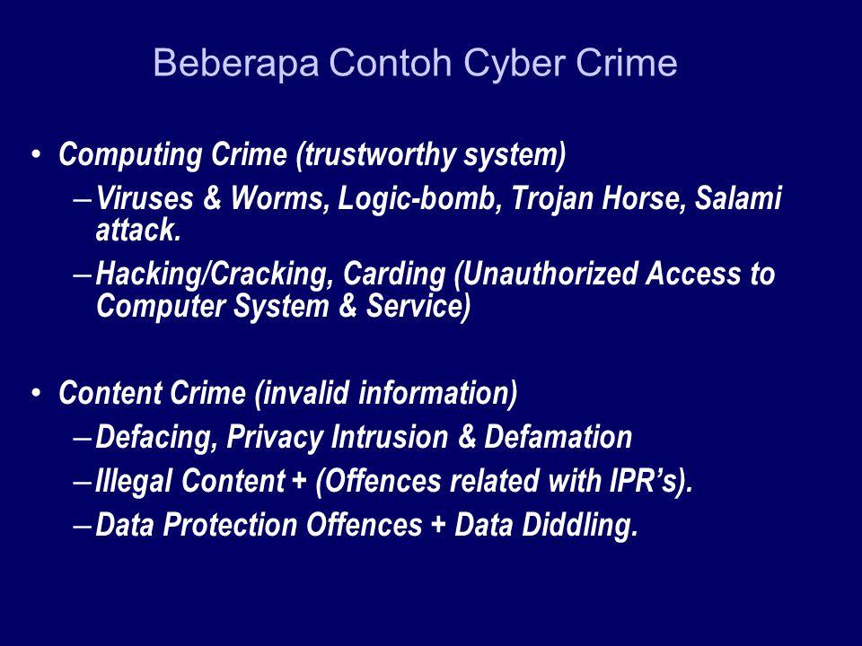 Beberapa Contoh Cyber Crime