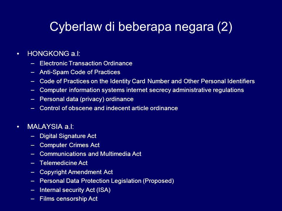 Cyberlaw di beberapa negara (2)